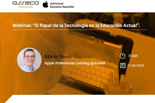 Webinar sobre tecnología y educación, hoy a las 5!